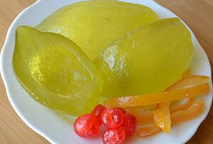 Candied Citron Halves, Orange Peel, and Cherries