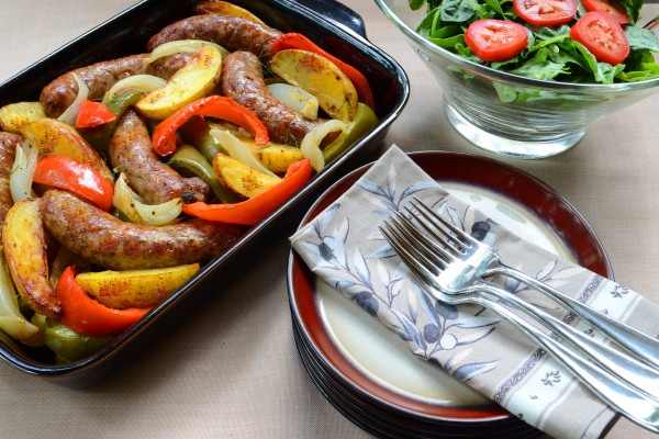 Italian Sausage with Potatoes, Onions, and Peppers