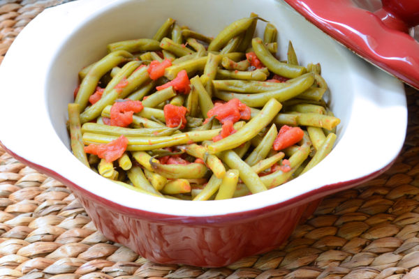 Sicilian Baked Green Beans in Tomato Sauce