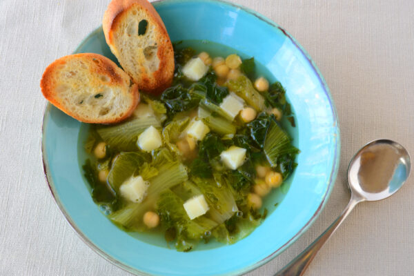 Escarole and Garbanzo Bean Soup