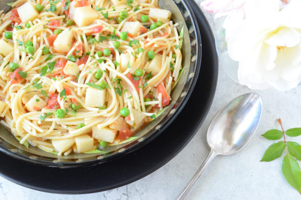 Pasta with Potatoes and Peas