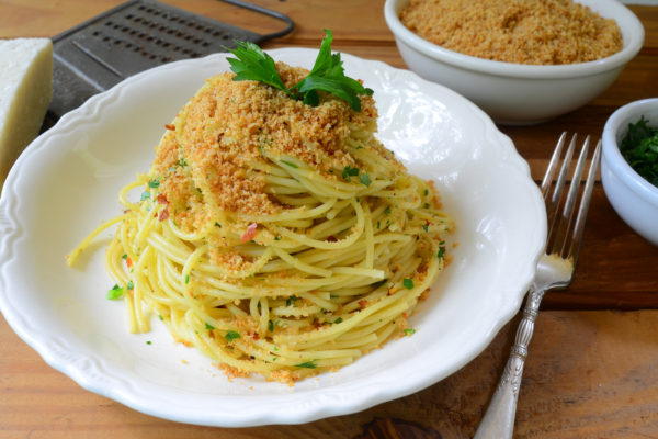 Pasta with Anchovies and Toasted Bread Crumbs