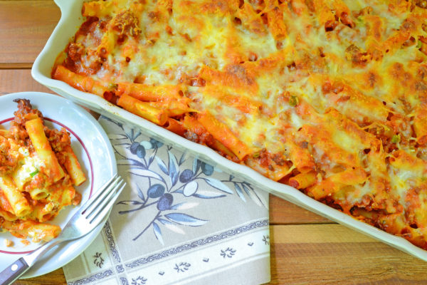 Baked Ziti al Forno with Meat Sauce