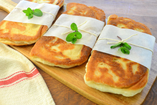 Fried Pizza Dough Panini Sandwiches
